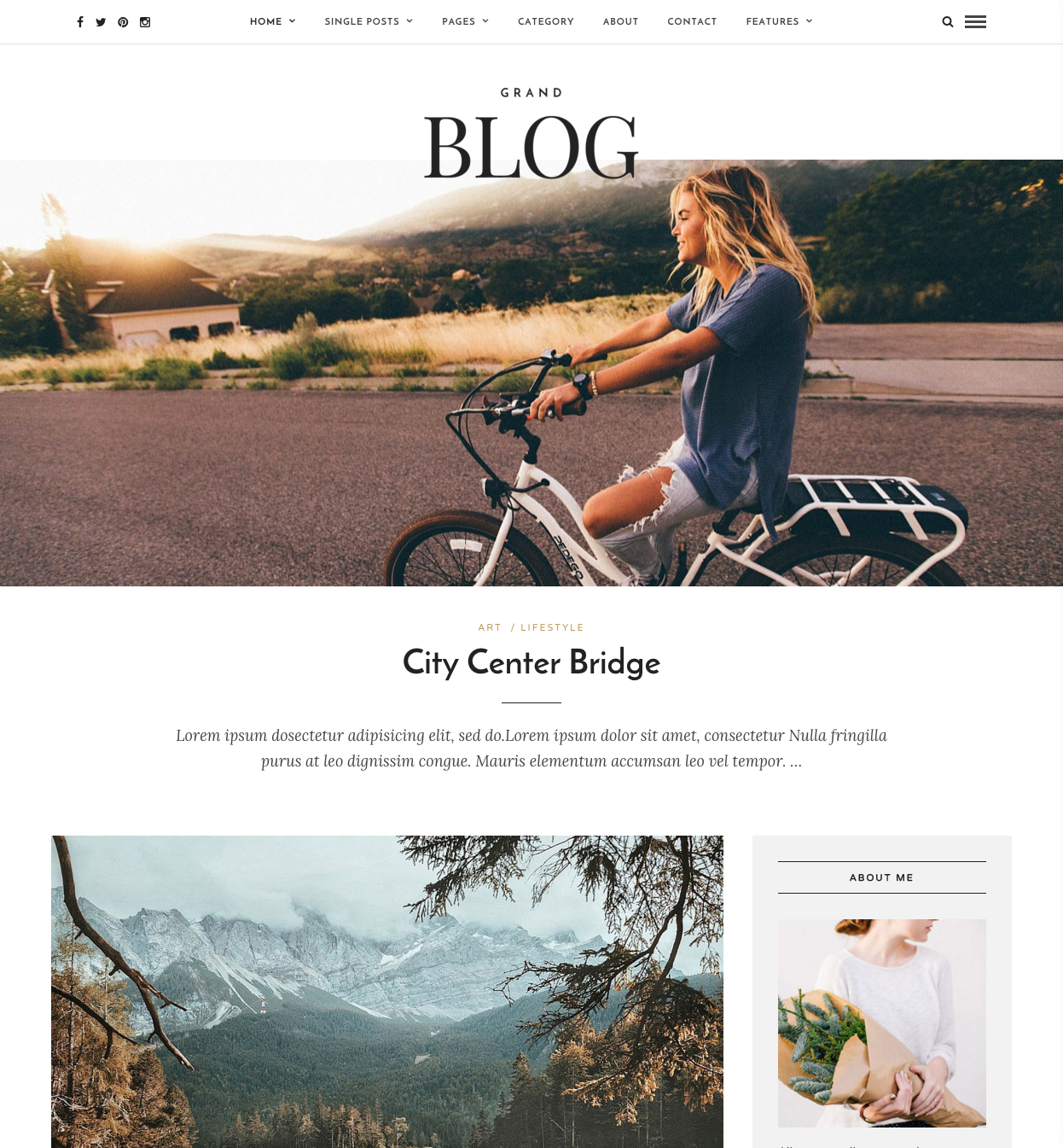 Grand Blog   Responsive Blog Theme   Just another WordPress site
